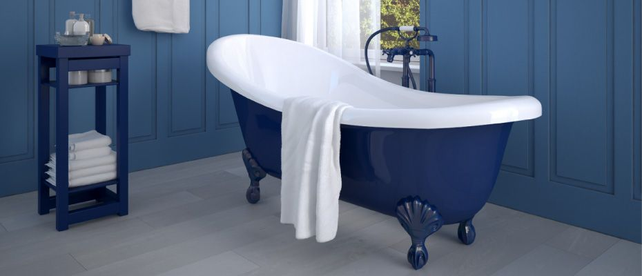Blue antique tub